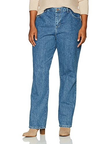 LEE Women's Plus-Size Relaxed Fit All Cotton Straight Leg Jean, aero, 20W Medium