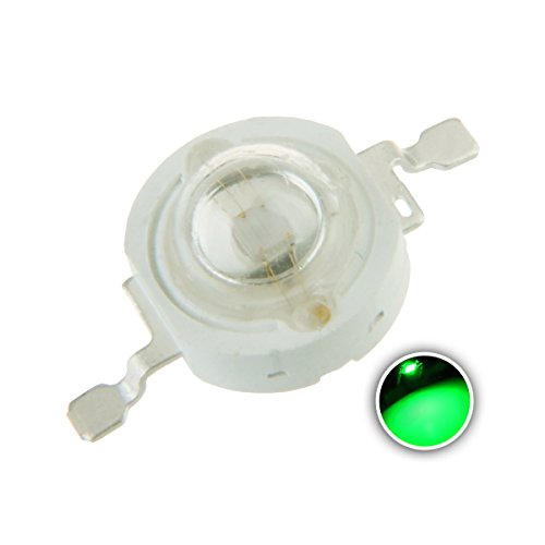 Chanzon 10 pcs High Power Led Chip on Board 3W Green (400mA-500mA/DC 3V-3.4V/3 Watt) Super Bright Intensity SMD COB Light Emitter Components Diode 3 W Bulb Lamp Beads DIY Lighting
