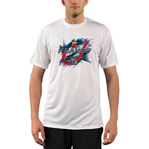 France Rugby Men's UPF Performance T-shirt X-Large White