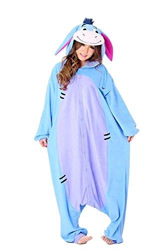 Eeyore Kigurumi- Animal Onesie Pajama For Adult and Teens (Eeyore Costume Ideas)