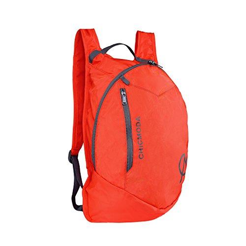 chicmoda-backpack-weatherproof-rucksack-lightweight-packable-daypack-coral-red