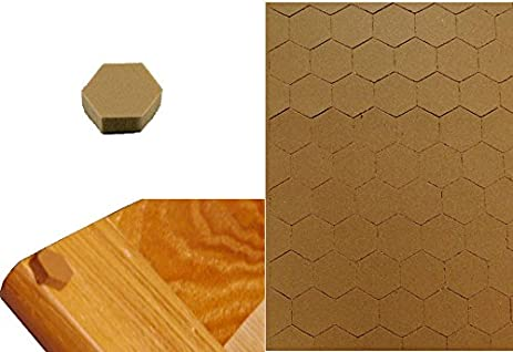 Amazon.com: 100 Self Adhesive Hexagon Foam Bumper For Cabinet Door ...