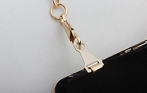for with Cocktail Clutch for Black Wallet Wedding Evening for Long Evening Shoulder Small Ceremony Women with Elegant Bag Handbag Bag Party for Bag Handbag gqX06w1gH