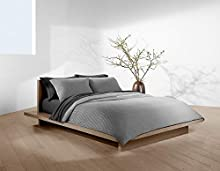 Calvin Klein Home Jared Duvet Cover, Full/Queen, Heathered Grey/Charcoal