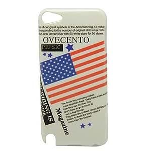 Patrón de la bandera americana Caso duro de la contraportada para iPod touch5