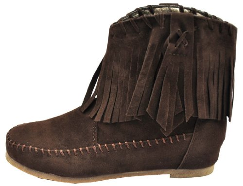 Tassel Fashciaga Boot Brown Flat Women's w40xY5qcxz