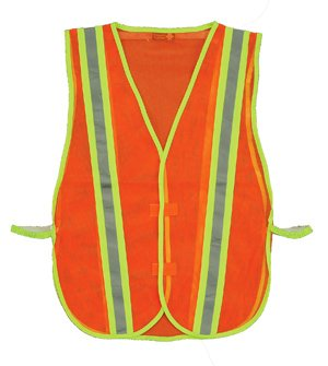 Pack of 3 8018C, Orange 2w Safety Depot Economy Safety Vest Light Weight Mesh Durable Hi Vest Low Cost Value One Size Fits Most