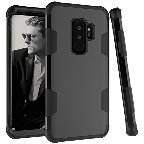 Galaxy S9 Plus Case, UZER Slim Fit 3 in 1 Hybrid Hard PC & Soft Silicone Rugged Bumper High Impact Resistant Shock-Absorption Anti Slip Full-Body Protective Case for Samsung Galaxy S9 Plus 2018 Model