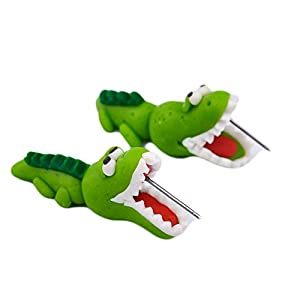 Super Cute 3D Alligator Costume Earrings - Polymer clay Cartoon - Women girls alligator  sc 1 st  Amazon.com & Amazon.com: Super Cute 3D Alligator Costume Earrings - Polymer clay ...