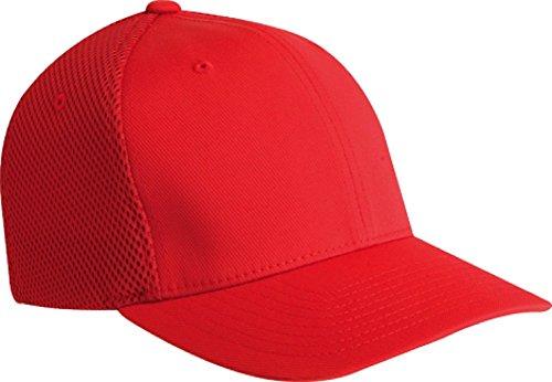 - Flexfit 6533 Ultrafibre & Airmesh Fitted Cap, Red - Small/Medium