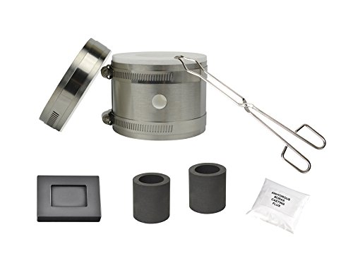 Deluxe Mini Kwik Kiln Propane Furnace Kit w/ 2 Oz Graphite Ingot Mold Gold Silver Copper Brass Aluminum Melting Precious Metal Casting Set - Kwik Kit
