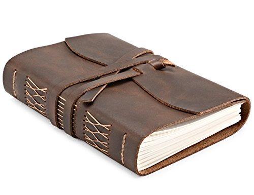 Cuaderno de diario de escritura de piel, diario de viaje para escribir para hombres y mujeres, cuaderno de notas encuadernado...