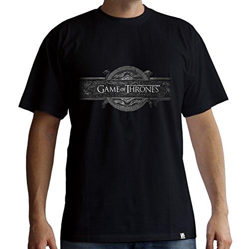 Mc ffnung Logo Black Game Shirt ThronesT Homme Of Er stdrxQCh