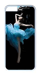 IPhone 6 Plus Case, IPhone 6 Plus Cases Hard White Case Dance Undersea Beauty Case For IPhone 6 Plus, IPhone 6 Plus PC Case
