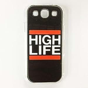 MOFY-Palabra de alta Esquema de la Vida de pl‡stico duro caso para Samsung Galaxy S3 I9300 , Multicolor