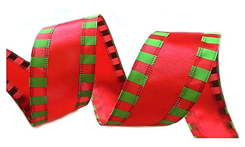 Holiday 50 Yards Designer Christmas Day Ribbon Wired 2.5