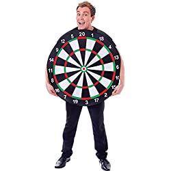 Men's Tabard Funny Stag Night Fancy Dress Party Outfit Dart Board Costume