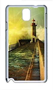 3D Fantasy Road Polycarbonate Hard Case Cover for Samsung Galaxy Note III/ Note 3 / N9000 White