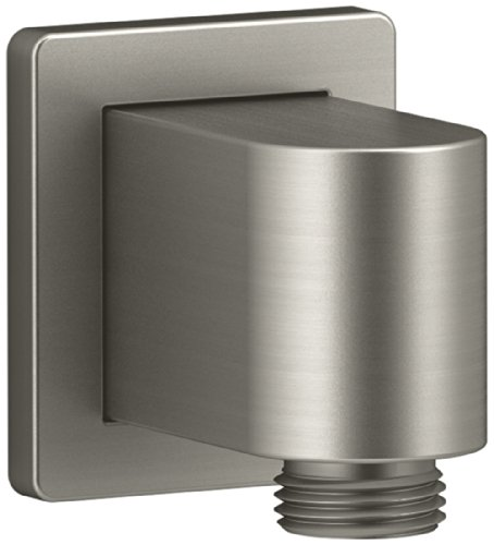 (KOHLER K-98350-BN Awaken Wall-Mount Supply Elbow, Vibrant Brushed Nickel)