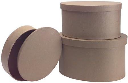 8-1//2-Inch 7-1//2-Inch DCC Paper Mache Hexagon Box 3//Pgk and 6-3//4-Inch