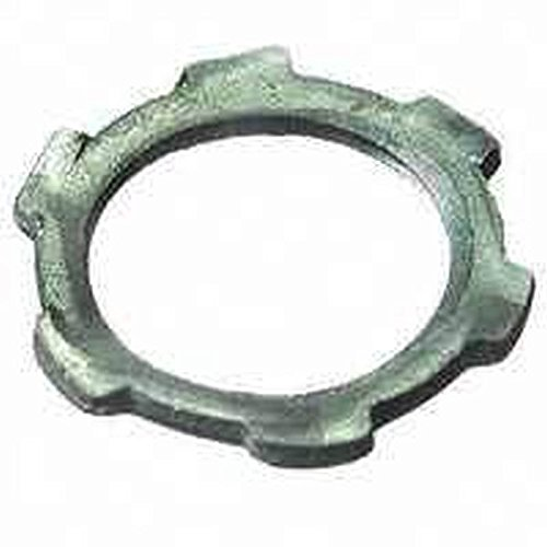 Halex 96191 Rigid Imc Conduit Locknut, 1/2 In, Steel, Zinc Plated
