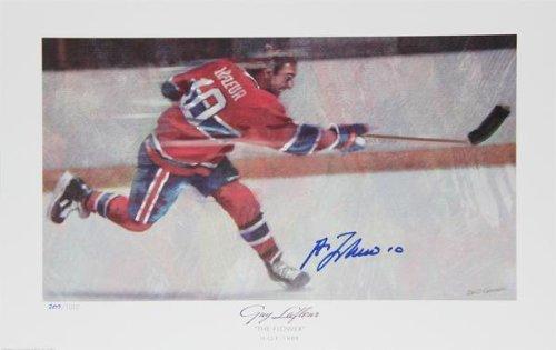 Guy Lafleur Autographed Limited Edition Lithograph - Montreal Canadiens - Autographed NHL Art Sports Memorabilia