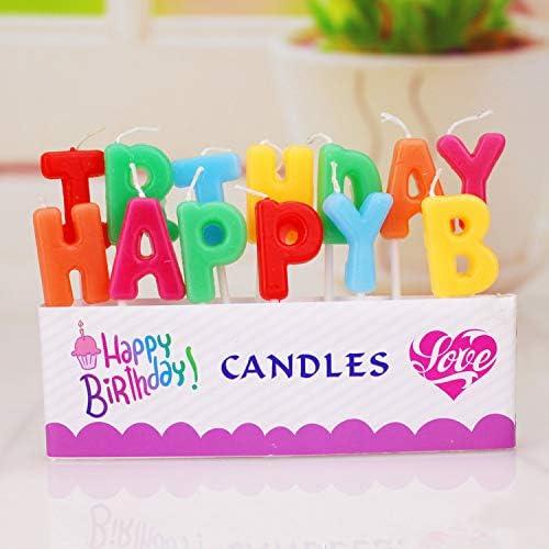 BJ-SHOP Geburtstagskerzen Geburtstag Kuchen Kerzen Happy Birthday Alphabet Kerzen F/ür Kuchendeckel Kuchendekoration