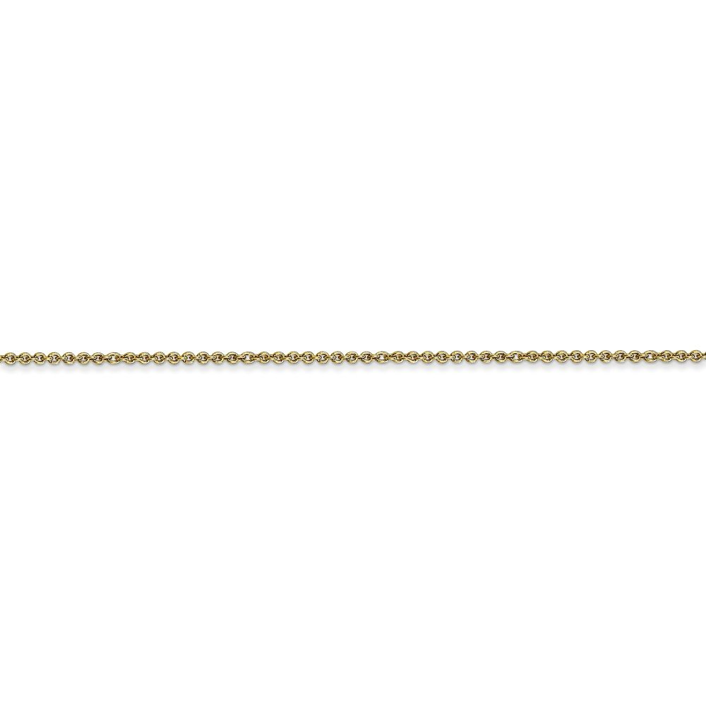 Mia Diamonds 10k Yellow Gold 1mm Cable Chain Necklace