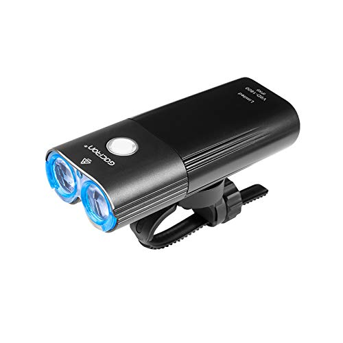 YLYBDDD Headlight 1800 Lumens Bicycle Front Light Waterproof USB Rechargeable 6700Mah Bike Light Accessories V9D-1800 Blue