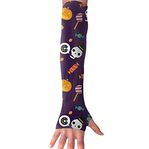 Halloween Wallpaper Holiday Outdoor Sports Bike Cycling Hiking Arm Sleeve Arm Warmer Arm Protector Barcer Shooting UV Protection Sun Protection (Halloween Pumpkins Wallpaper)