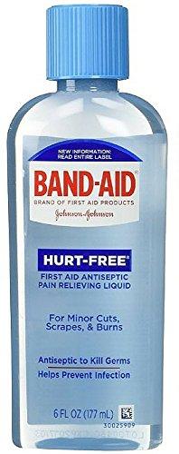 (B-A Hurt Free Anti Wash Size 6z Band-Aid Hurt-Free Antiseptic Wash 6oz)