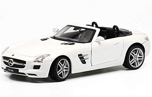 YN モデルカー コンバーチブルカーモデル合金1時24分おもちゃの車のコレクション誕生日プレゼントメルセデスベンツSLSシミュレーションモデル ミニカー (Color : BLACK)