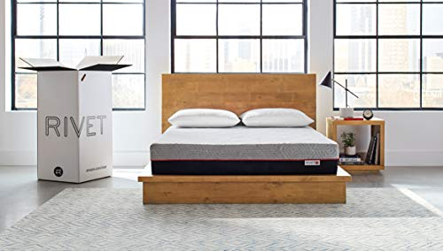 Rivet Queen Mattress – Celliant Cover,Responsive 3-layer Memory Foam for Support and Better Overnight Recovery, Bed in a Box, 100-Night Trial