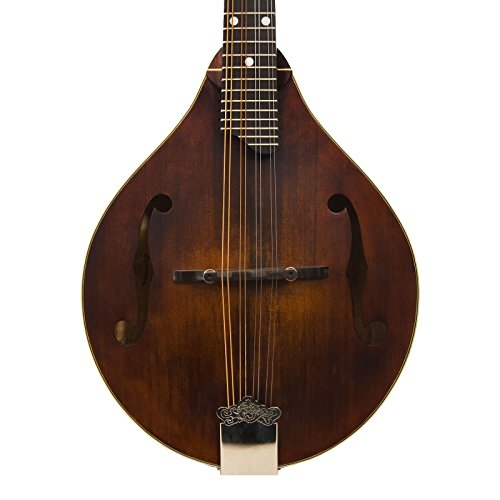 Eastman MD305 All Solid Wood A Style Mandolin Satin Nitrocellulose Chrome Hardware by Eastman