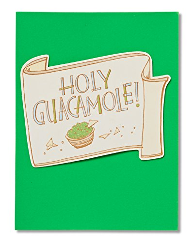 American Greetings Holy Guacamole New Baby Congratulations Card with Glitter (New Baby Congratulations)
