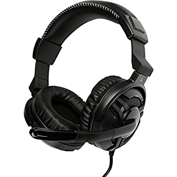 ROSEWILL Stereo Gaming Headset for PC , MAC , Laptop Computer , 3.5mm Stereo Over-Ear Gaming Headphones with Adjustable Mic and Convenient In-Line Sound Control (RGH-2100)