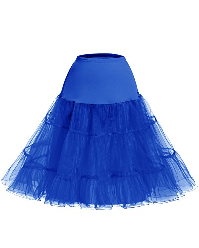 bouffant Swing Jupon Bleu Petticoat Rtro Bridesmay effet annes Vintage Rockabilly Saphir 50 qa1A4x