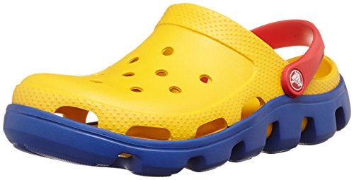 crocs-duet-sport-clog-equal-parts-comfort-and-durability-color-canary-cerulean-blue