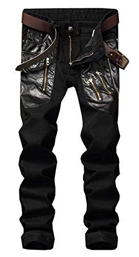 Holiday Bolsillos Vaqueros Vaqueros Pantalones Fit Pantalones Slim Elásticos Respirables Travel Pantalones R Locomotora Casuales Y Elásticos Los Negro Los con Hombres De Sólidos Y SaxCwAqBvn