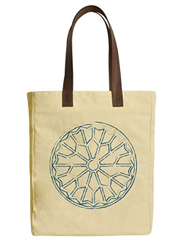 Paris Icons 2 Beige Printed Canvas Tote Bags Leather Handles WAS_30 (Icon 2 Handle)