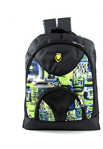 Tycoon series big waterproof school bag black/multicolor eh618