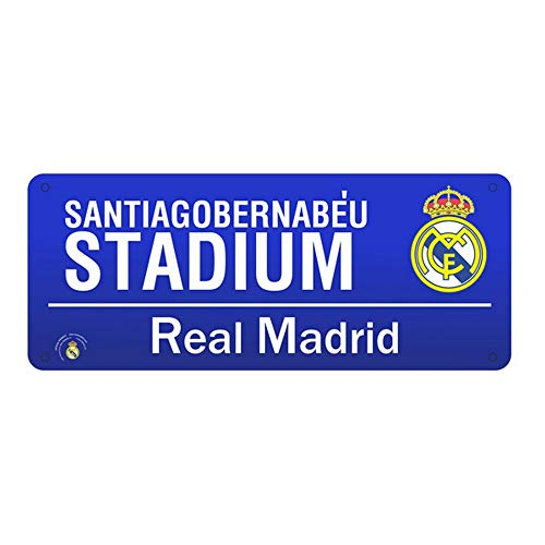 (Spot On Gifts Football Club Color Street Sign (One Size) (Real Madrid))