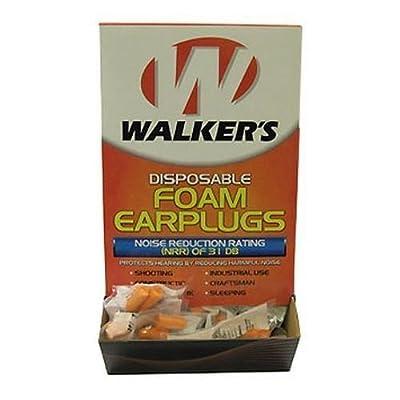 Walker's Game Ear Foam Ear Plugs (200 Pair Box) by Walkers Game Ear