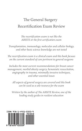 The General Surgery Recertification Exam Review