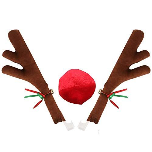 Reindeer Nose - QZYL Car Reindeer Christmas Antlers and