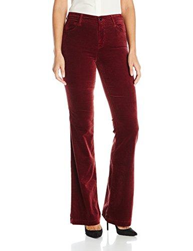 J Brand Flare Jeans (J Brand Jeans Women's Maria High Rise Flare in Velvet, Oxblood, 29)