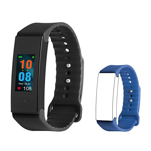 Fitplus Fitness Tracker With Heart Rate Monitor Blood Pressure Monitor Sleep Monitor Activity Tracker Watch Waterproof Smart Band With Replacement Band Step Counter Calorie Counter For Kids Women Men