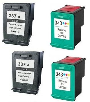 56 opinioni per Prestige Cartridge HP 337 / HP 343 4 Cartucce d'Inchiostro Compatibile per