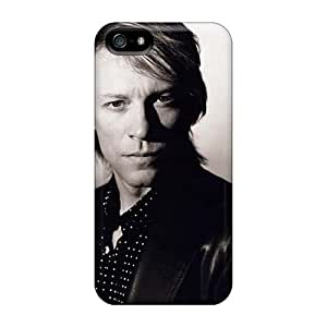 AlissaDubois Iphone 5/5s Anti-Scratch Hard Phone Case Customized Attractive Bon Jovi Band Pattern [lAj11342VQNJ]