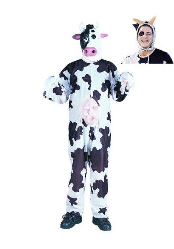 RG Costumes Unisex Cow Costume, Black/White, One Size -